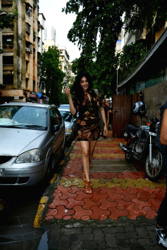 Actress Shruti Haasan seen at Mumbai's Bandra on July 6, 2018. - Shruti Haasan