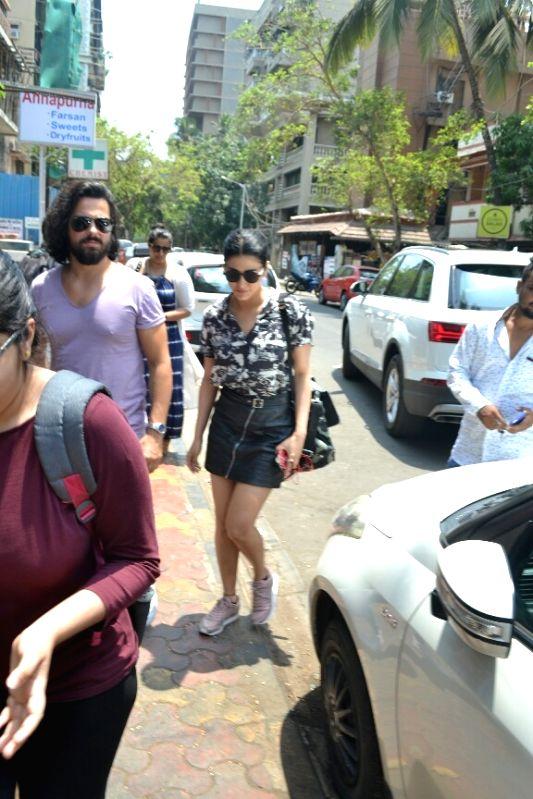 Actress Shruti Haasan with theatre artiste Michael Corsale seen at Mumbai's Bandra on April 16, 2018 . - Shruti Haasan