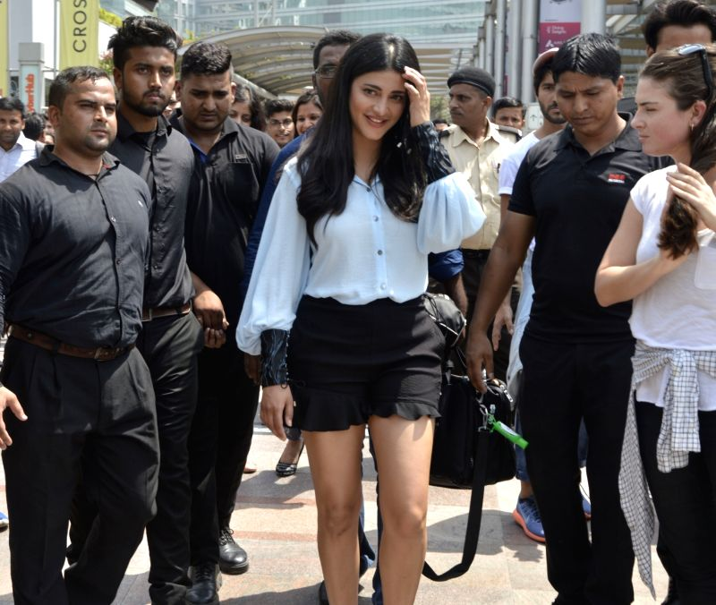 Actress Shruti Hassan during a promotional programme in Gurugram on June 9, 2017. - Shruti Hassan