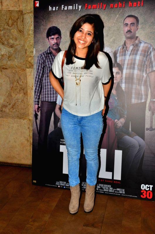 Actress Shweta Tripathi during the screening of film Titly in Mumbai on Oct 29, 2015. - Shweta Tripathi