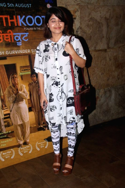 Actress Shweta Tripathi during the special screening of Punjabi film Chauthi Koot in Mumbai on Aug 1, 2016. - Shweta Tripathi