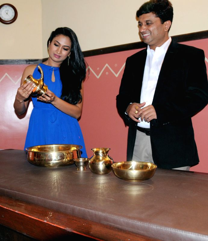 Actress Shwetha Srivatsa during inauguration of 'Shathayu Ayurveda' in Bangalore on May 4, 2014. - Shwetha Srivatsa