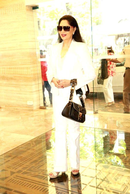 Actress Simi Garewal during the re-premiere of film Karz in Mumbai on April 23, 2017. - Simi Garewal