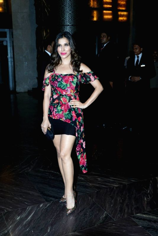 Actress-singer Sophie Choudry at the actress Kiara Advani birthday celebration in Mumbai on July 30, 2018. - Kiara Advani