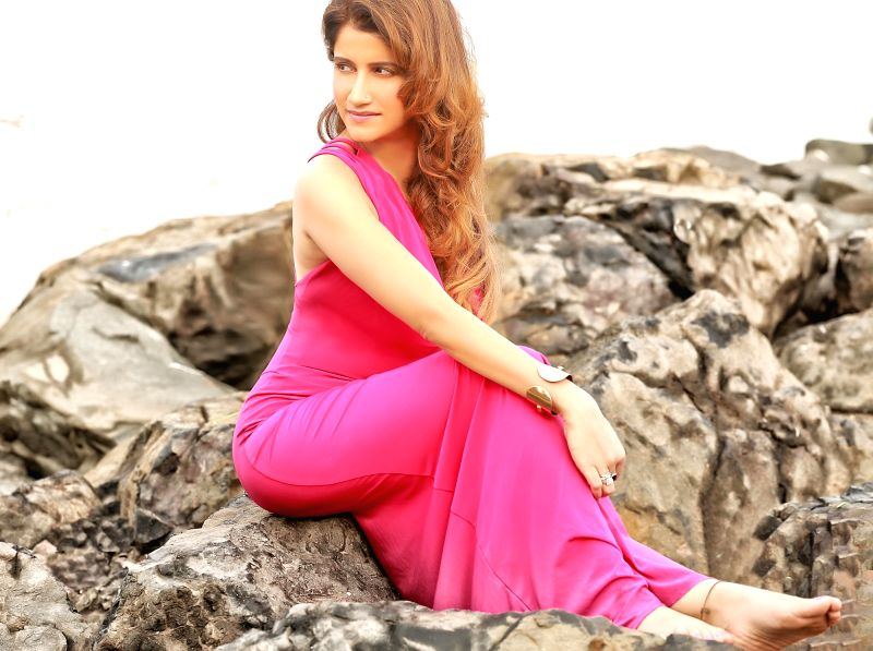 Actress Smilie Suri during a photo shoot, in Mumbai. - Smilie Suri