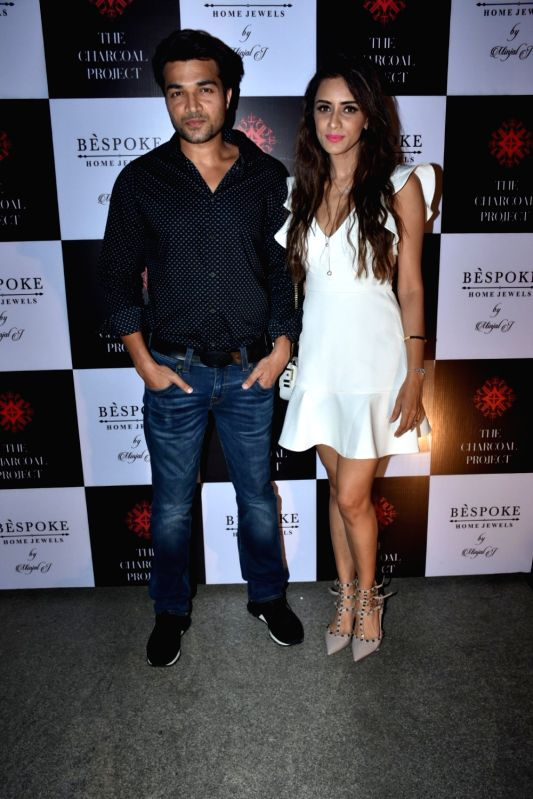 Actress Smriti Khanna along with her husband Gautam Gupta at a store launch in Mumbai on April 13, 2018 . - Smriti Khanna and Gautam Gupta