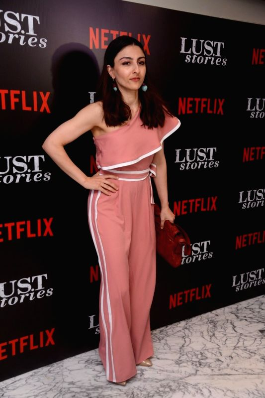 "Actress Soha Ali Khan at the special screening of Netflix show titled ""Lust Stories"" in Mumbai on June 13, 2018. - Soha Ali Khan"
