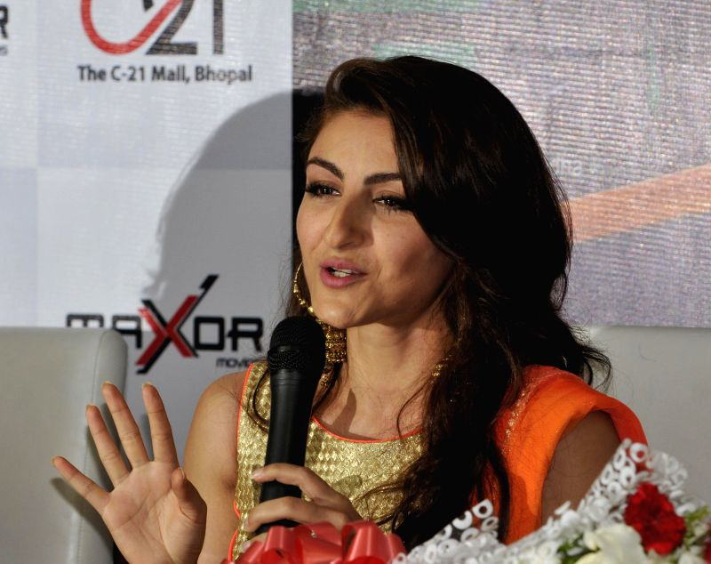 Actress Soha Ali Khan during a press conference in Bhopal on Aug 29, 2014.