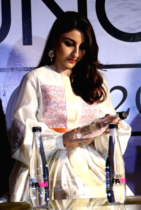 Actress Soha Ali Khan during the launch of a mineral water brand in New Delhi on May 3, 2017. - Soha Ali Khan