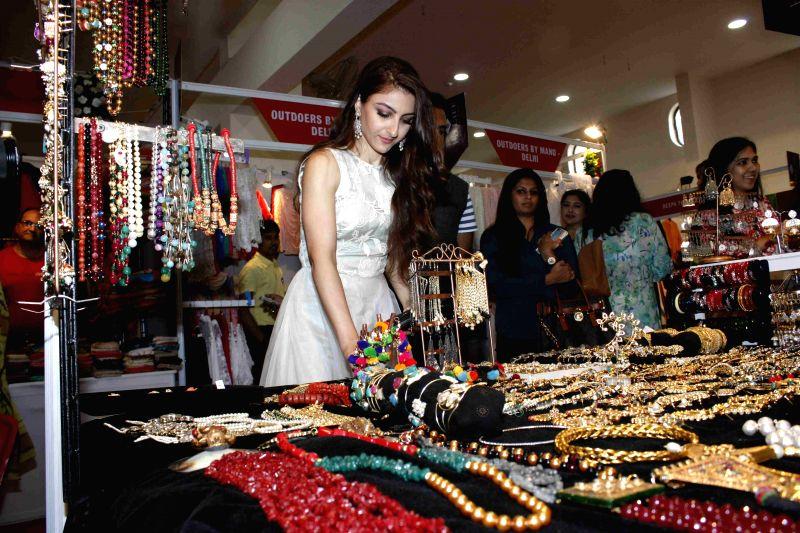 Actress Soha Ali Khan during the opening ceremony of Hi Life Exhibition in Mumbai, on Aug 6, 2015. - Soha Ali Khan