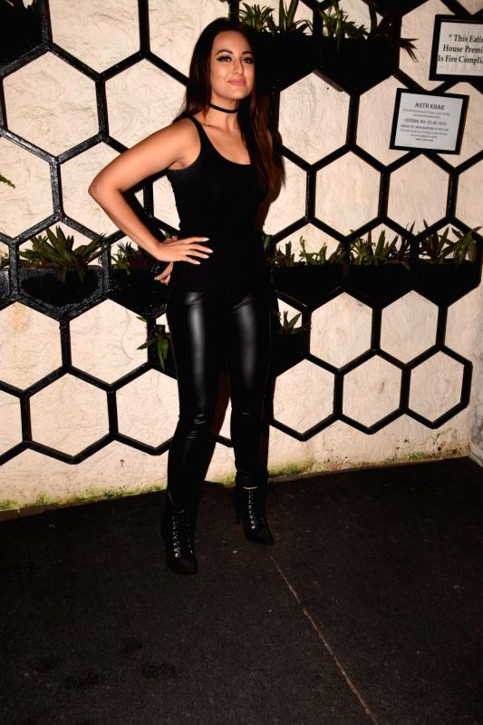 Actress Sonakshi Sinha at the producer Dinesh Vijan birthday celebration in Mumbai on July 26, 2018. - Sonakshi Sinha
