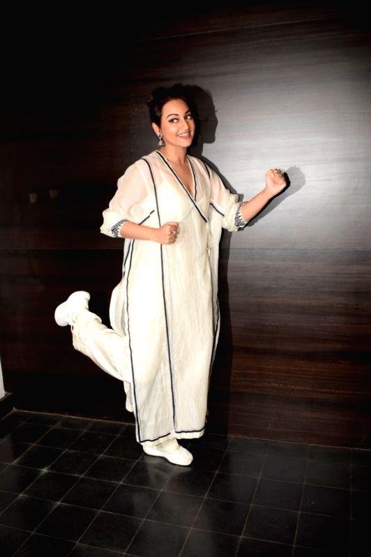 "Actress Sonakshi Sinha during a media interaction to promote her upcoming film ""Happy Phirr Bhag Jayegi"" in Mumbai on July 31, 2018. - Sonakshi Sinha"