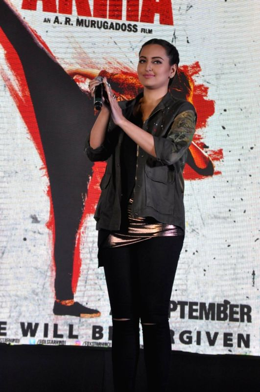 Actress Sonakshi Sinha during the song launch of film Akira at MMK College in Mumbai, on Aug 3, 2016. - Sonakshi Sinha