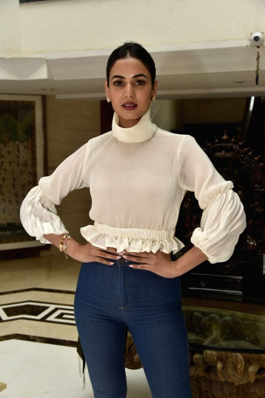 Actress Sonal Chauhan at a clothing store launch in Mumbai on Aug 9, 2018. - Sonal Chauhan