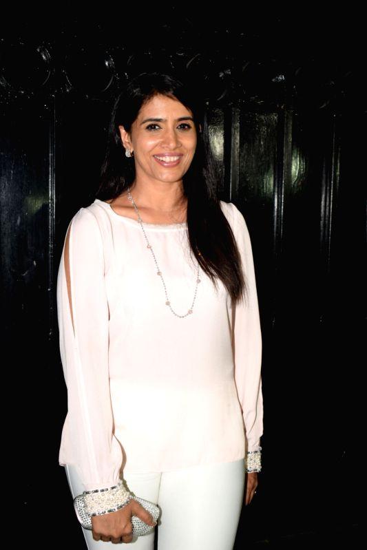 "Actress Sonali Kulkarni at the producer Ekta Kapoor's party post web series ""The Test case"" screening in Mumbai on Jan 29, 2018. - Sonali Kulkarni and Ekta Kapoor"