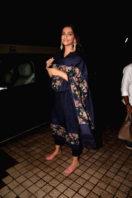 "Actress Sonam Kapoor Ahuja at the special screening of upcoming film ""Dhadak"", in Mumbai on July 14, 2018. - Sonam Kapoor Ahuja"