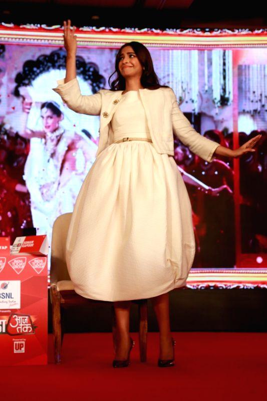 Actress Sonam Kapoor at Agenda 15 organised by Aaj Tak in New Delhi, on Dec 11, 2015.