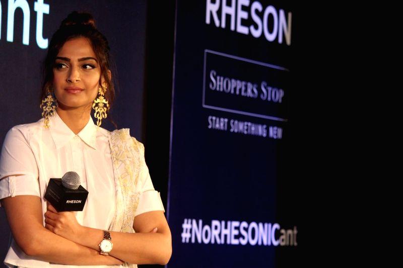 Actress Sonam Kapoor during the showcase of clothing brand Rheson in Mumbai on May 16, 2017. - Sonam Kapoor