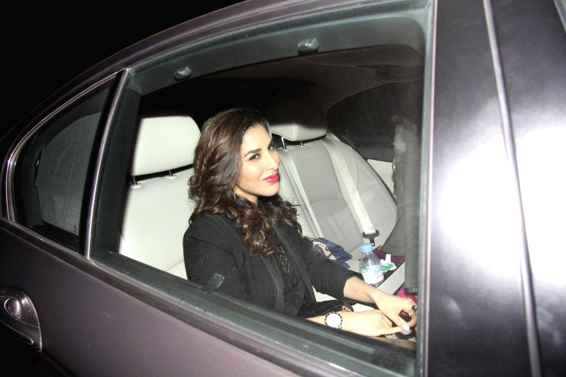 Actress Sophie Choudry arrives at Salman Khan's birthday party in Panvel near Mumbai, India on December 26, 2014. - Sophie Choudry