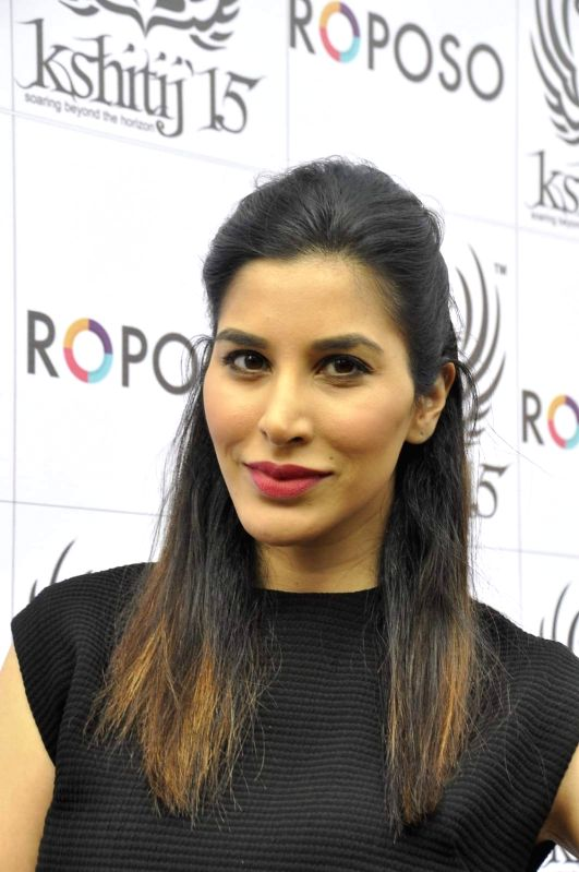 Actress Sophie Choudry during the Mithibai College festival in Mumbai, on November 27, 2015.