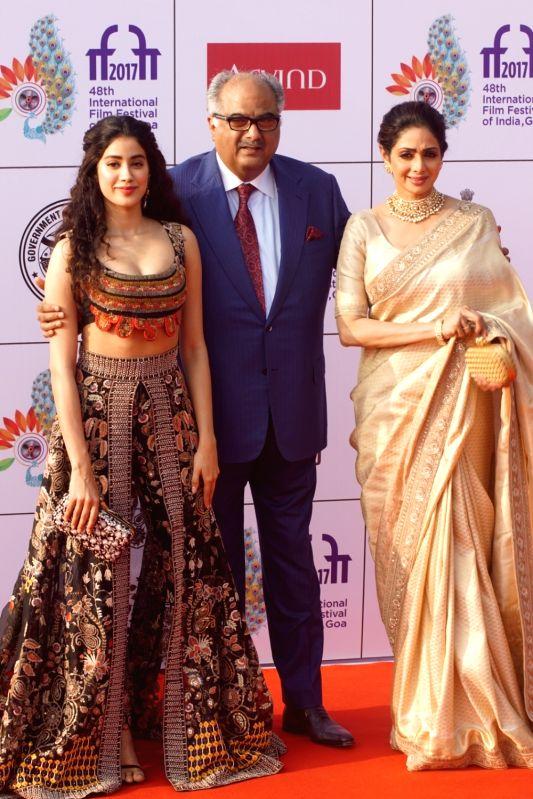 International Film Festival 2017- Sridevi, Boney Kapoor and Janhvi Kapoor - Sridevi and Janhvi Kapoor