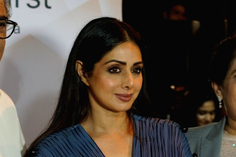 Sridevi at the launch of  iPhone 8 - Sridevi