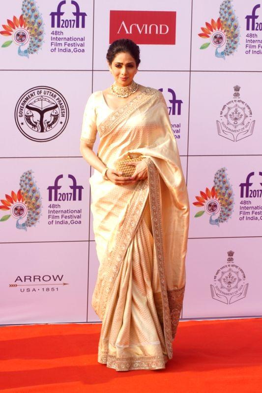 International Film Festival 2017- Sridevi, Boney Kapoor and Janhvi Kapoor - Sridevi