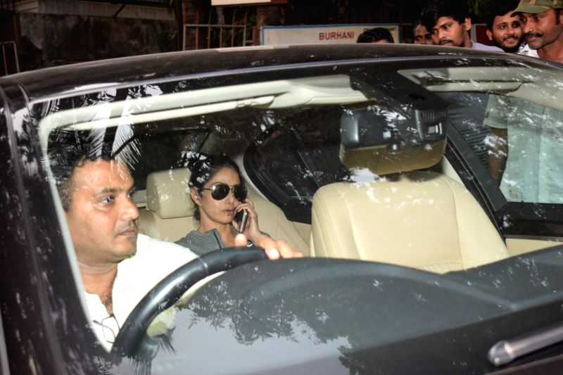 Sridevi seen at a salon for Salons in mumbai
