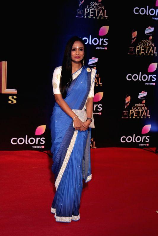 Actress Suchitra Pillai during the 5th Colors Golden Petal Awards in Mumbai on April 12, 2017. - Suchitra Pillai
