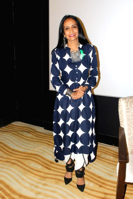 """Actress Suchitra Pillai during the promotion of film """"The Valley"""" in Mumbai on Oct 10, 2017."""
