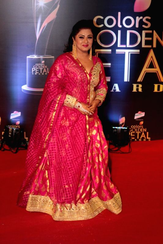 Actress Sudha Chandran during the 5th Colors Golden Petal Awards in Mumbai on April 12, 2017. - Sudha Chandran
