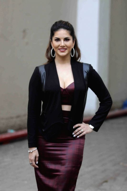 Actress Sunny Leone addressing media on film Mastizaade in Mumbai on January 15, 2016.