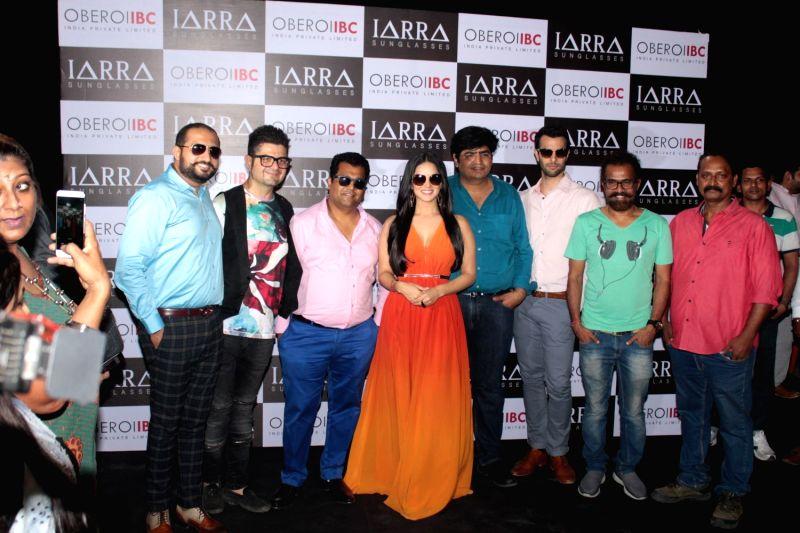 Actress Sunny Leone during a photo shoot of IARRA sunglasses in Mumbai on April 21, 2017. - Sunny Leone