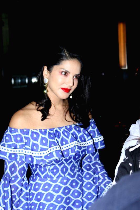 Actress Sunny Leone during fashion designer Maheka Mirpuri summer collection, in Mumbai on April 8, 2017. - Sunny Leone