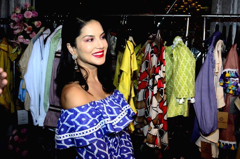 Actress Sunny Leone during fashion designer Maheka Mirpuri summer collection in Mumbai on April 8, 2017. - Sunny Leone