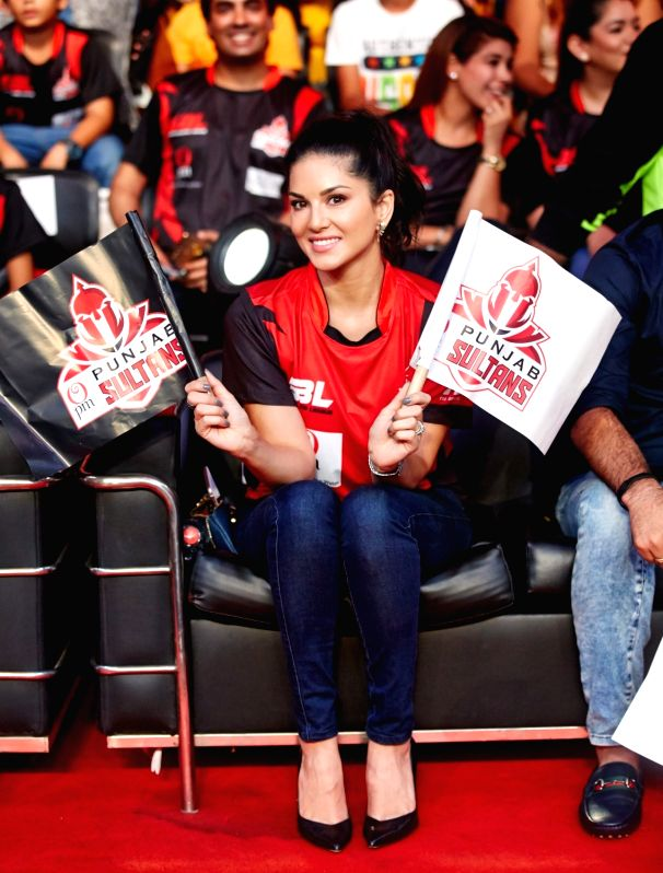 Actress Sunny Leone during Super Boxing League (SBL) match in New Delhi on July 28, 2017. - Sunny Leone