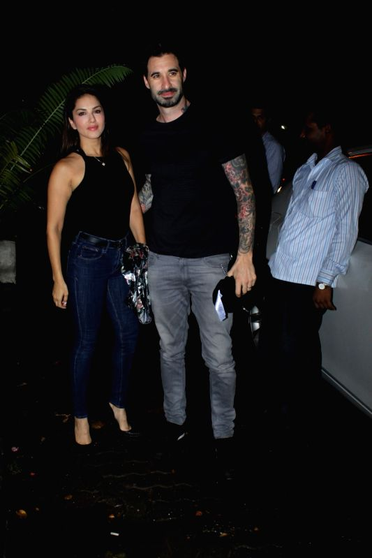Actress Sunny Leone with her husband Daniel
