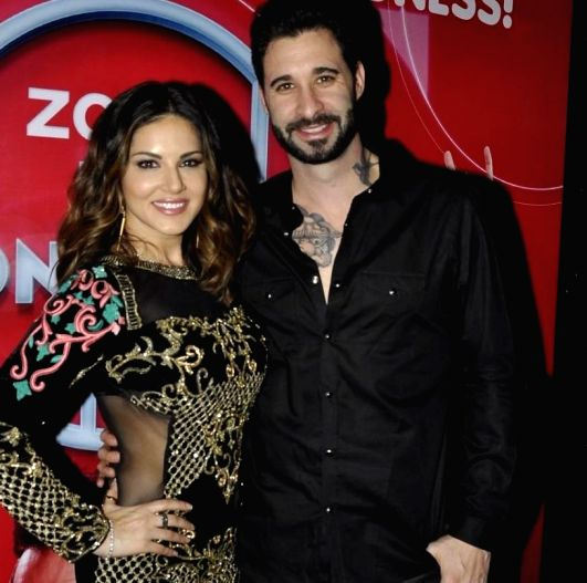 Actress Sunny Leone with husband Daniel Weber