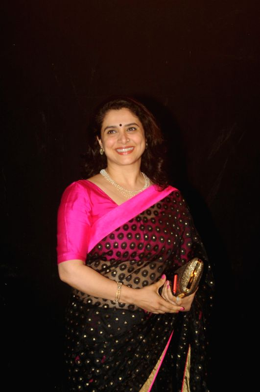 Actress Supriya Pilgaonkar during the Star Parivaar award ceremony in Mumbai on June 21, 2014. - Supriya Pilgaonkar
