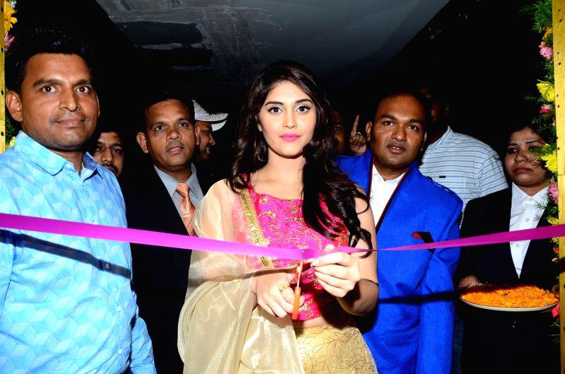 Actress Surabhi during a programme in Hyderabad. - Surabhi