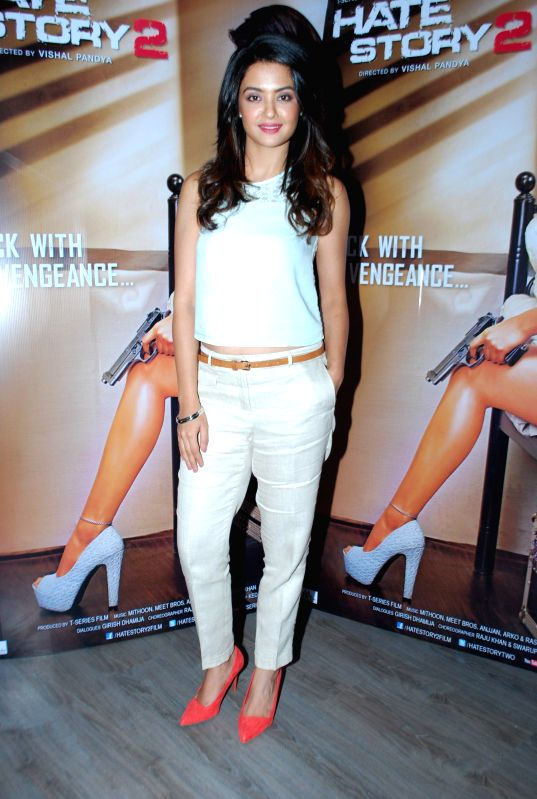 Actress Surveen Chawla during a media interaction of her upcoming film Hate Story 2 in Mumbai  on 5th July 2014 - Surveen Chawla