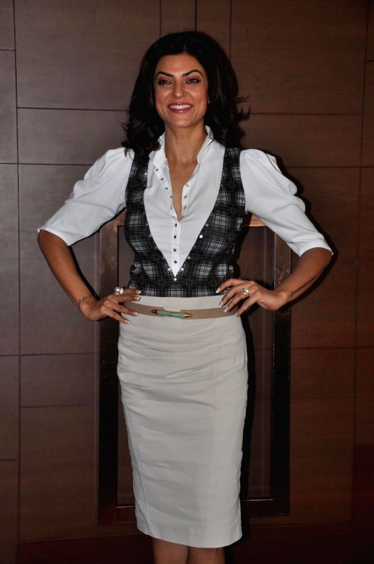 Actress Sushmita Sen during the co-host power luncheon for women in Mumbai on April 30, 2014.
