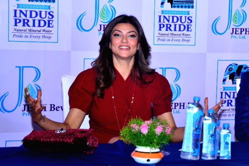 Actress Sushmita Sen during the promotion of a product in Jaipur on April 21, 2017. - Sushmita Sen