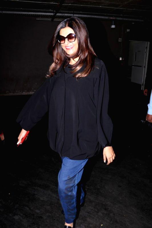 Actress Sushmita Sen spotted at airport in Mumbai on May 24, 2017. - Sushmita Sen