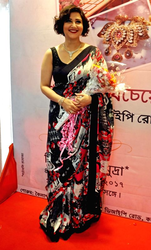Actress Swastika Mukherjee during a programme in Kolkata, on April 4, 2017. - Swastika Mukherjee
