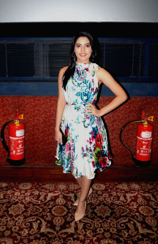 """Actress Swati Bakshi during the special screening of her upcoming film """"When Obama Loved Osama"""", in New Delhi on July 28, 2018. - Swati Bakshi"""