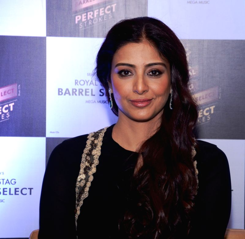 Actress Tabu during a programme ``Perfect Strokes Season 2`` in New Delhi on Dec. 5, 2015.