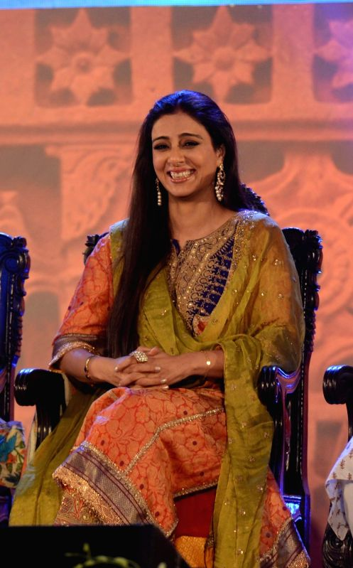 Actress Tabu during the closing ceremony of 21st Kolkata International Film Festival in Kolkata on Nov 21, 2015. - Tabu