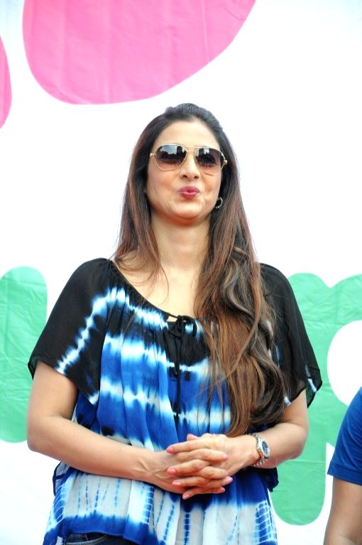 Actress Tabu during the Lokhandwala Street Festival in Mumbai on May 21, 2017. - Tabu