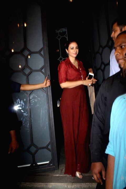 Actress Tabu during the success party of film Baaghi in Mumbai on May 12, 2016. - Tabu